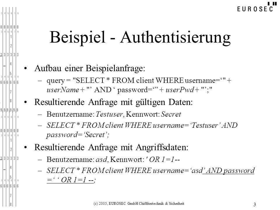 Beispiel - Authentisierung