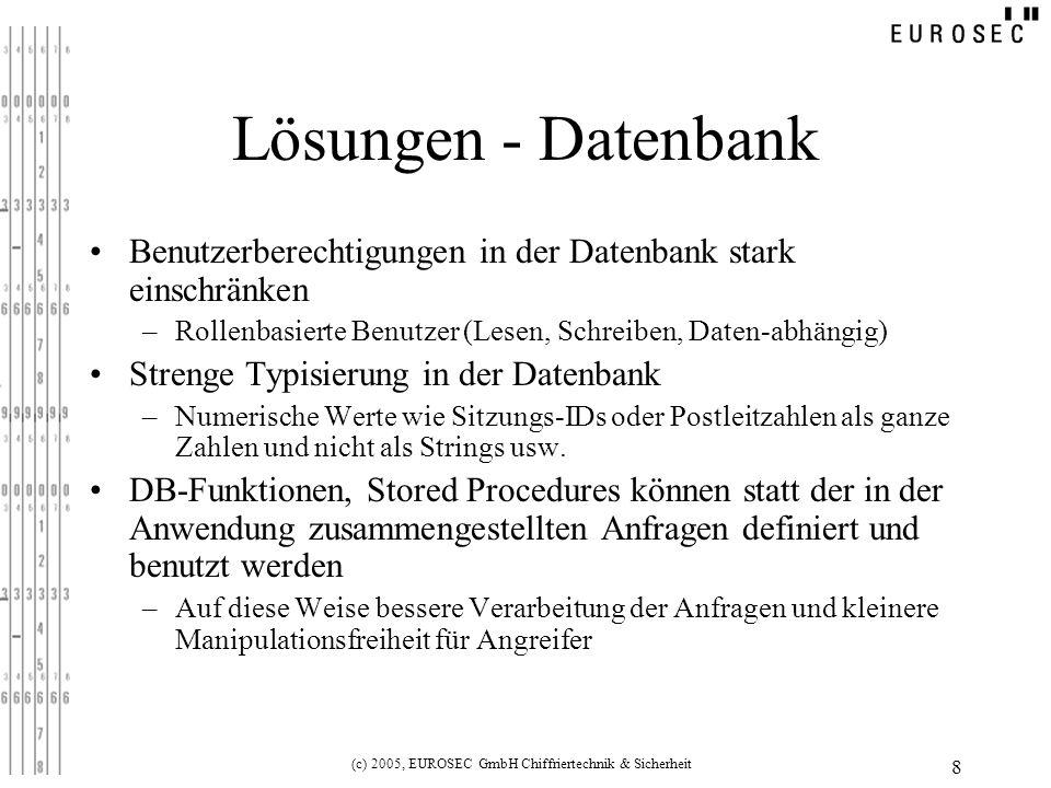 (c) 2005, EUROSEC GmbH Chiffriertechnik & Sicherheit
