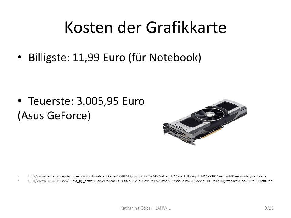 Kosten der Grafikkarte