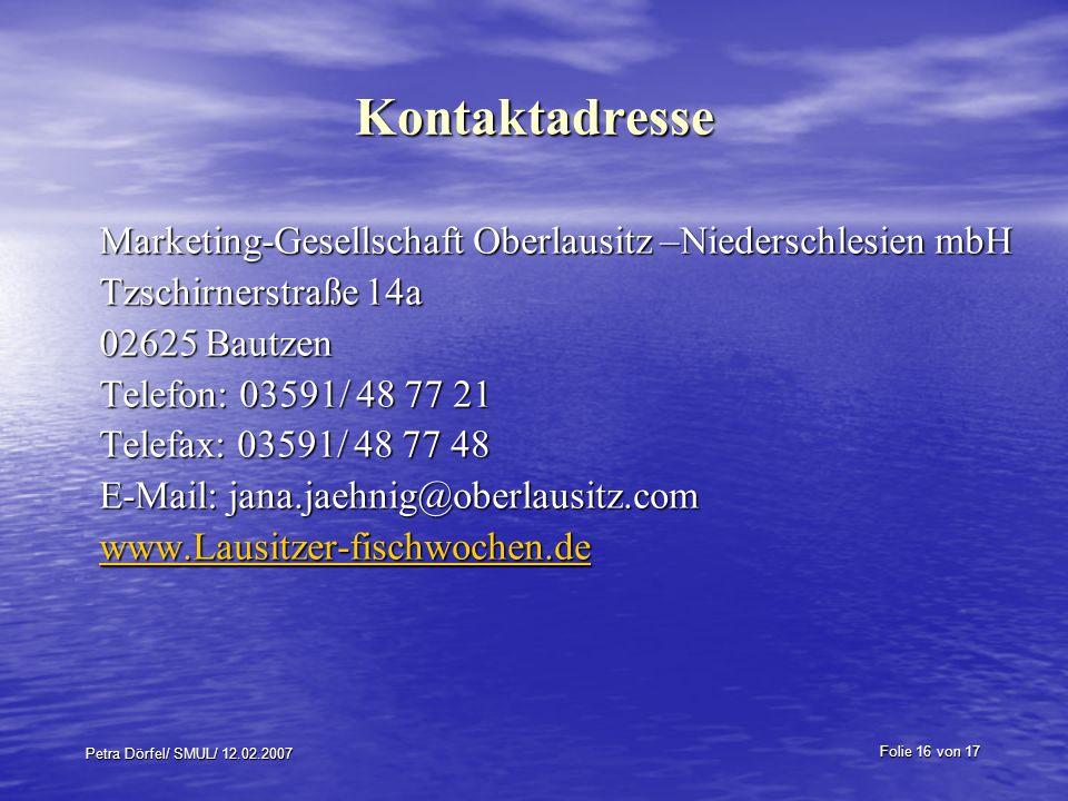 Kontaktadresse Marketing-Gesellschaft Oberlausitz –Niederschlesien mbH