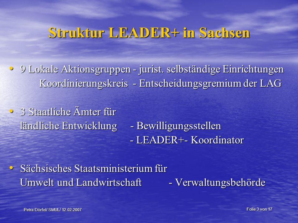 Struktur LEADER+ in Sachsen