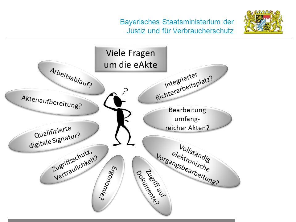 Viele Fragen um die eAkte Bayerisches Staatsministerium der