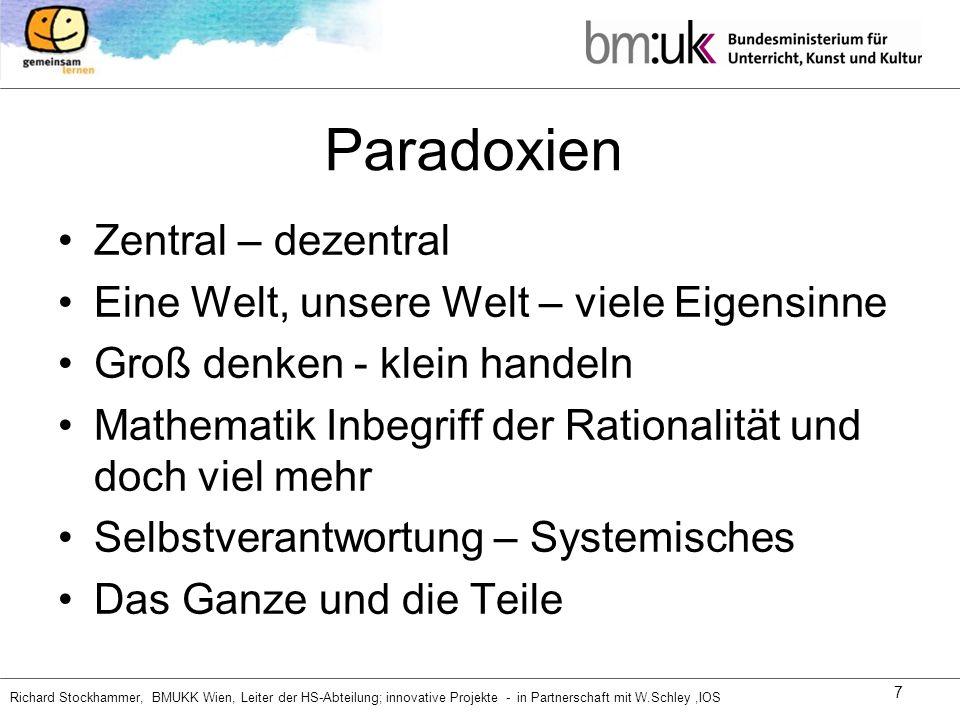 Paradoxien Zentral – dezentral