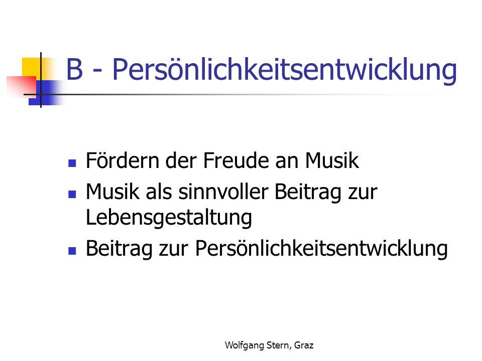 B - Persönlichkeitsentwicklung