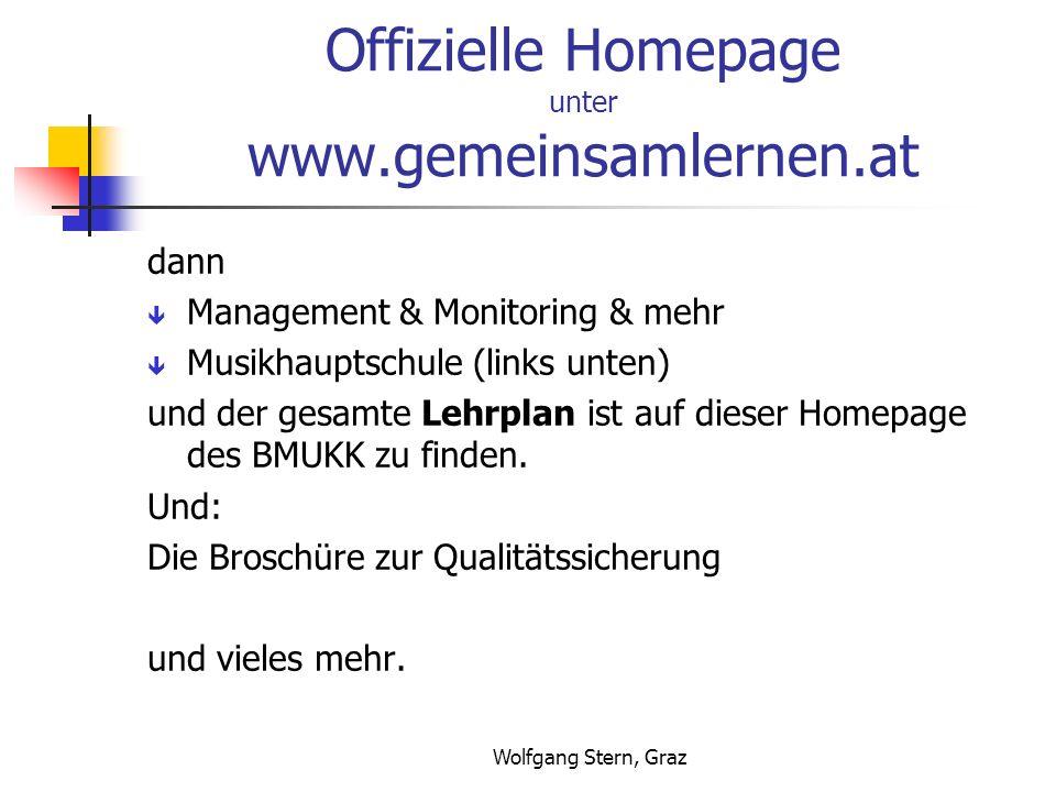 Offizielle Homepage unter www.gemeinsamlernen.at