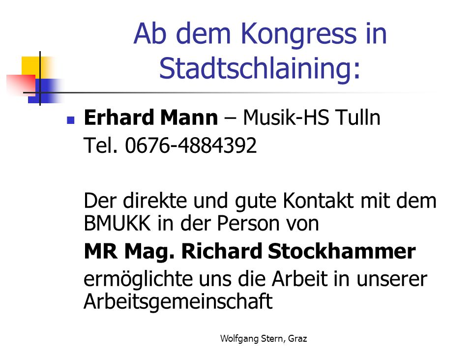 Ab dem Kongress in Stadtschlaining: