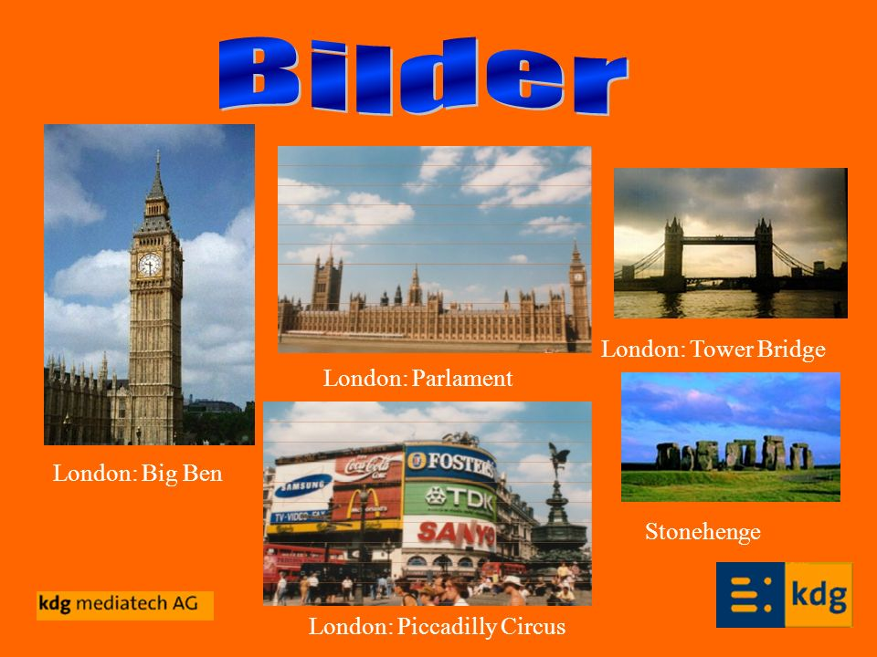 Bilder London: Tower Bridge London: Parlament London: Big Ben