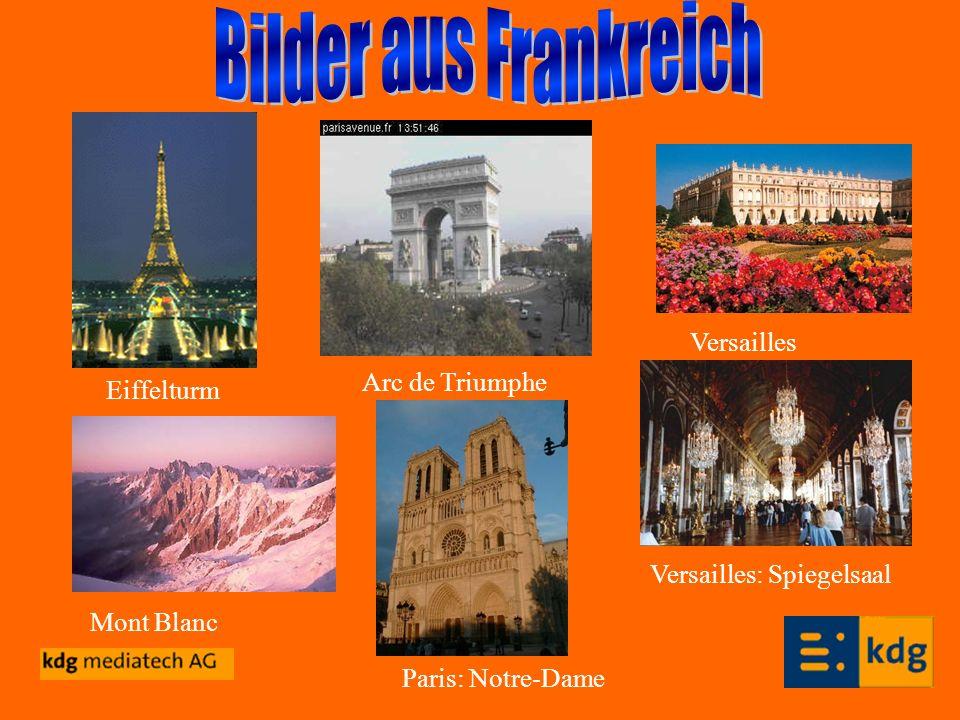 Bilder aus Frankreich Versailles Arc de Triumphe Eiffelturm
