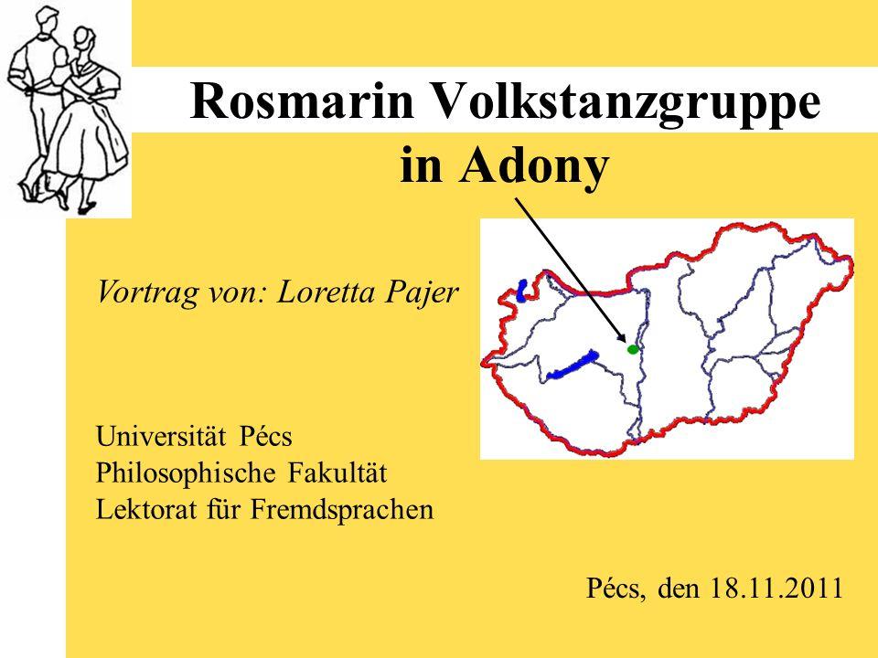 Rosmarin Volkstanzgruppe in Adony