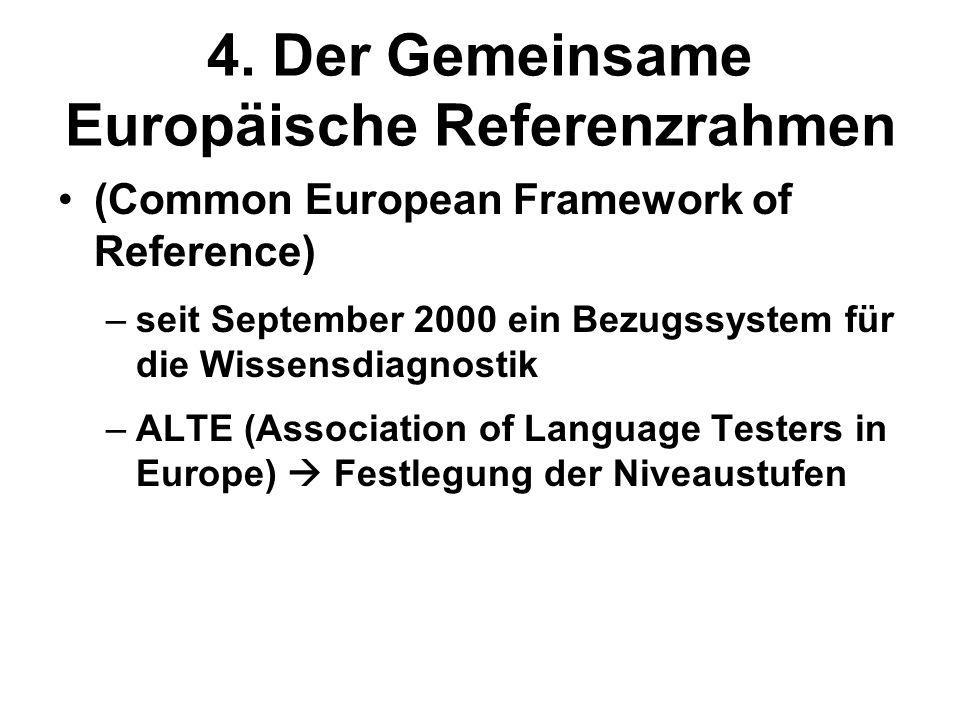 4. Der Gemeinsame Europäische Referenzrahmen