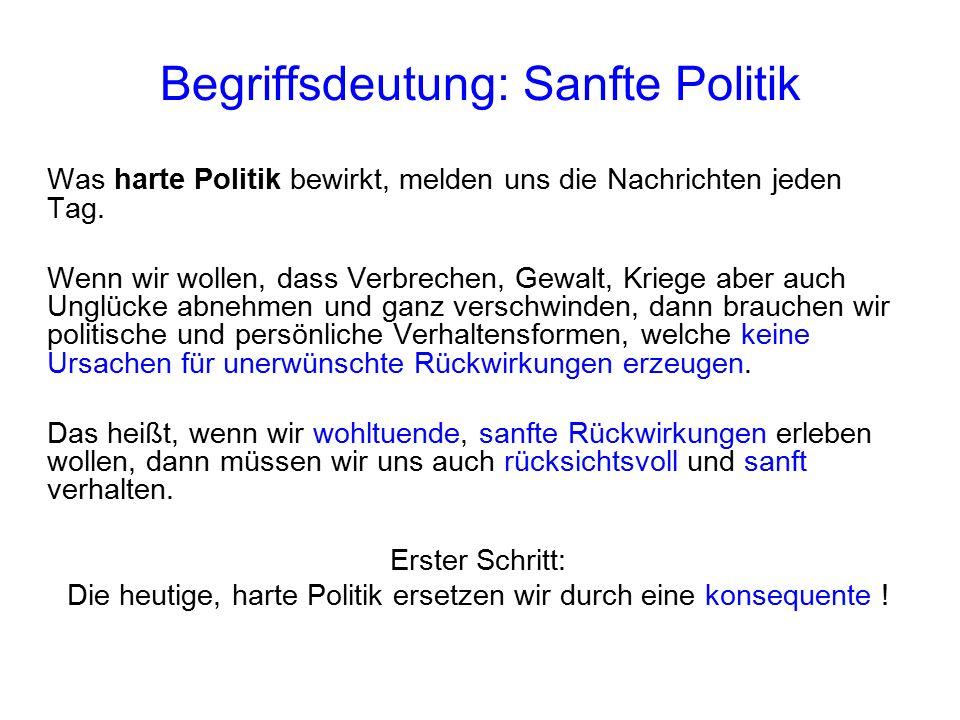 Begriffsdeutung: Sanfte Politik