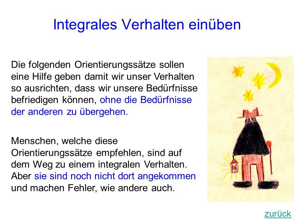 Integrales Verhalten einüben