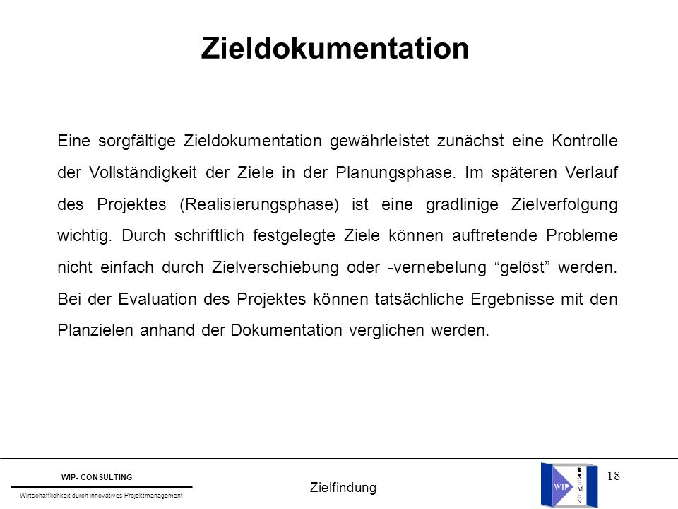 Zieldokumentation