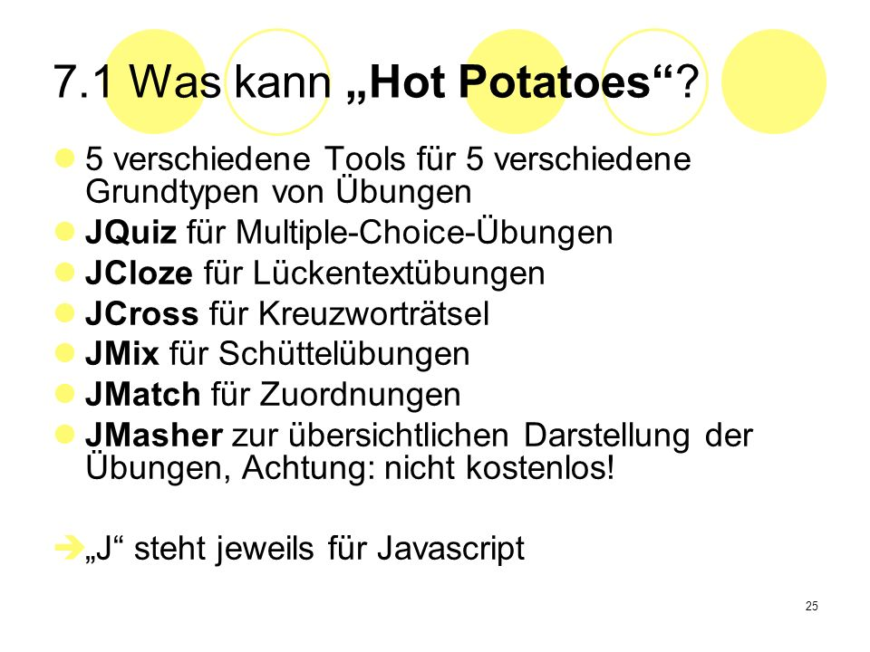 "7.1 Was kann ""Hot Potatoes"