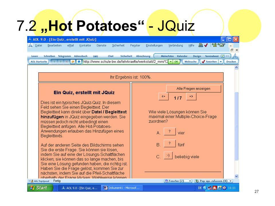 "7.2 ""Hot Potatoes - JQuiz"