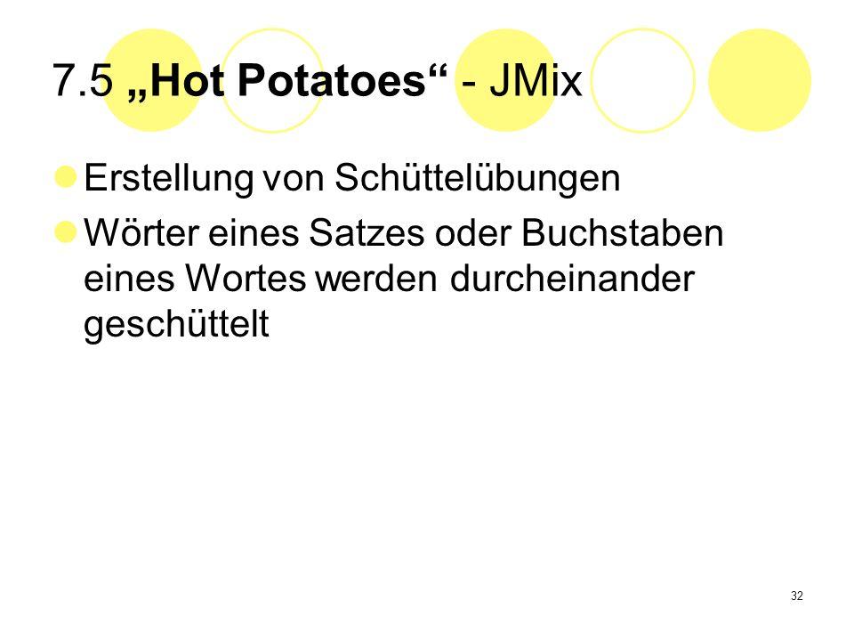 "7.5 ""Hot Potatoes - JMix Erstellung von Schüttelübungen"