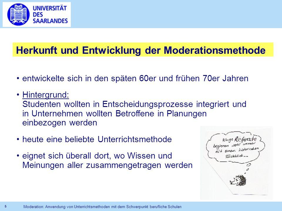 Herkunft und Entwicklung der Moderationsmethode
