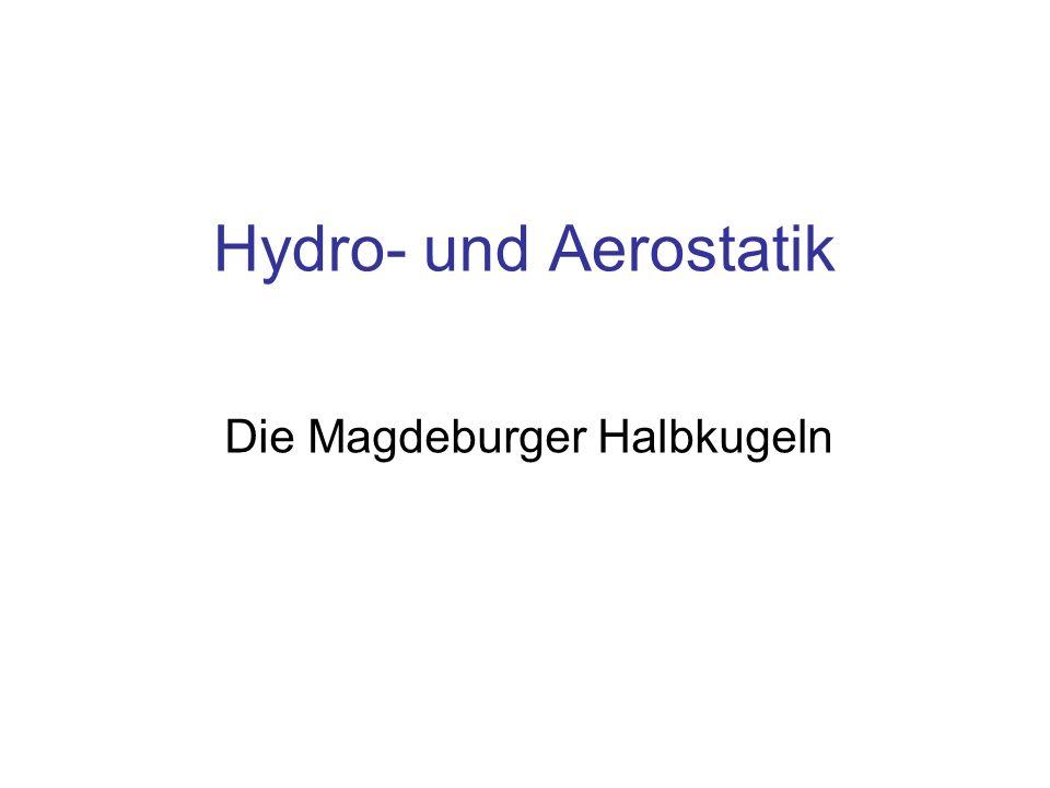 Die Magdeburger Halbkugeln