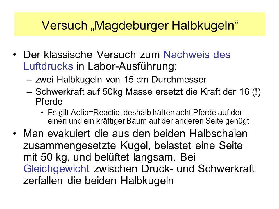 "Versuch ""Magdeburger Halbkugeln"