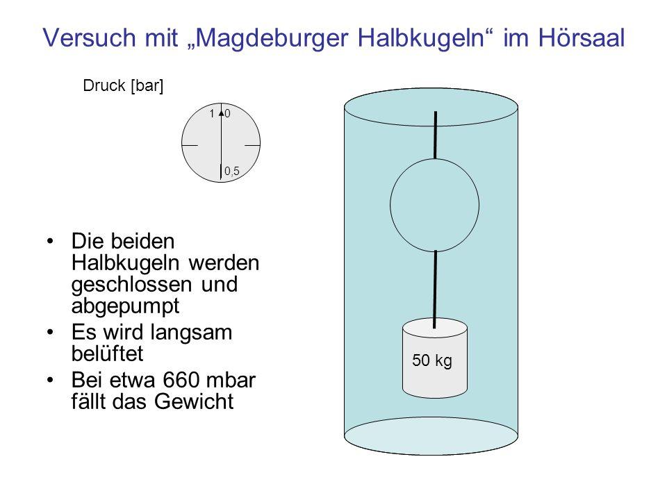 "Versuch mit ""Magdeburger Halbkugeln im Hörsaal"
