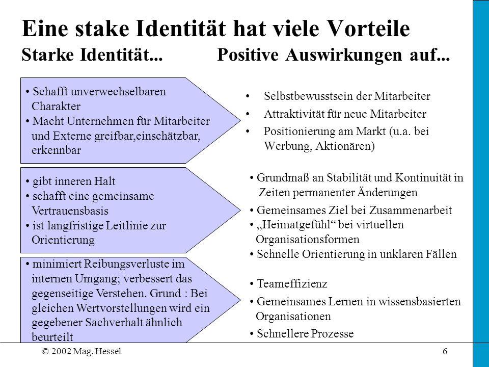 Eine stake Identität hat viele Vorteile Starke Identität