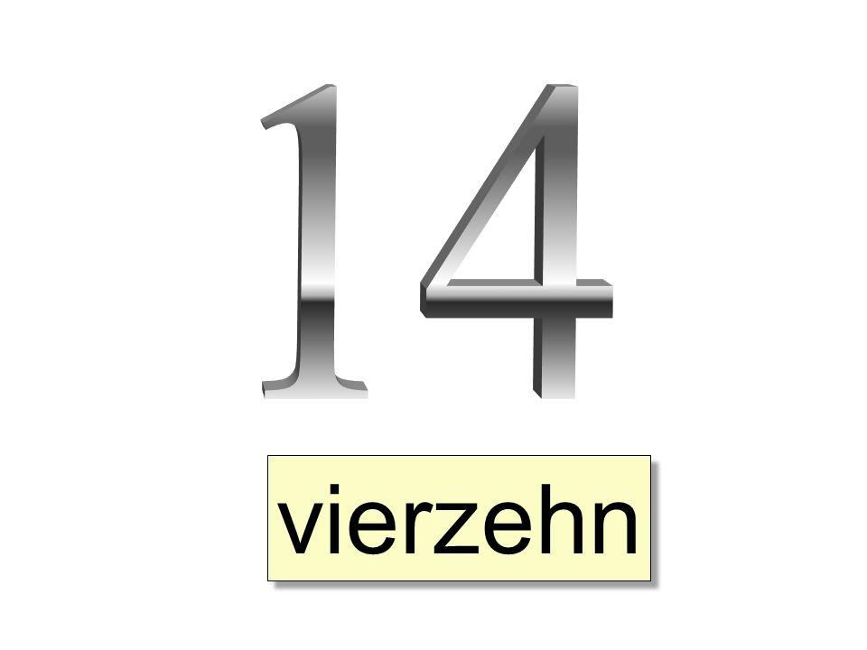 14 vierzehn
