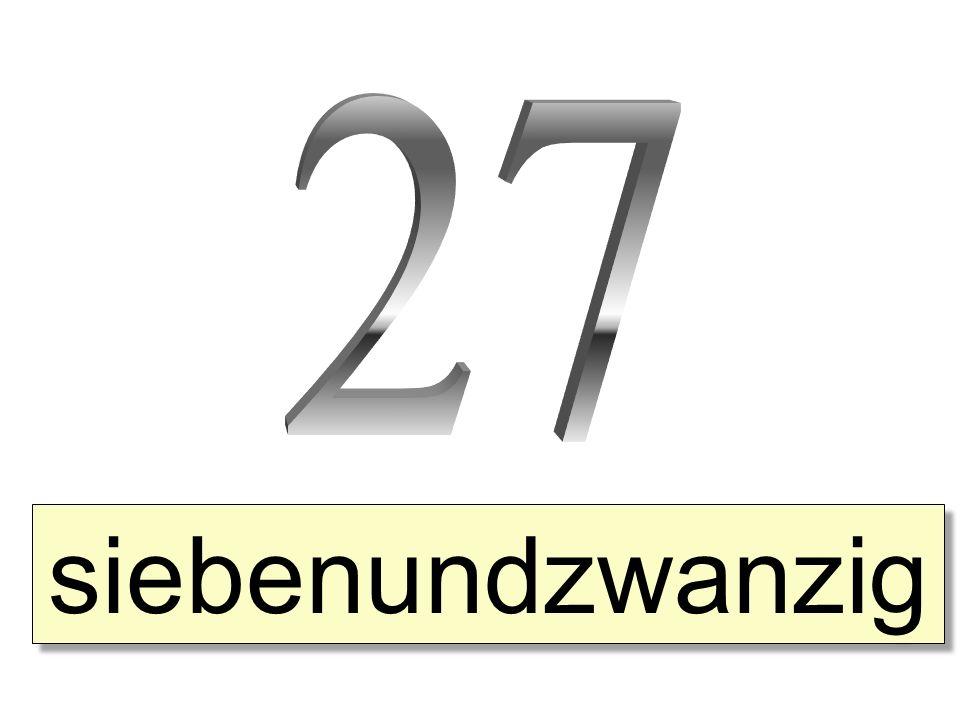 27 siebenundzwanzig