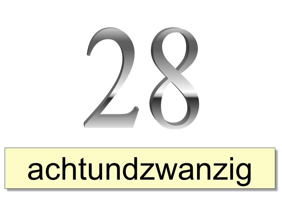 28 achtundzwanzig