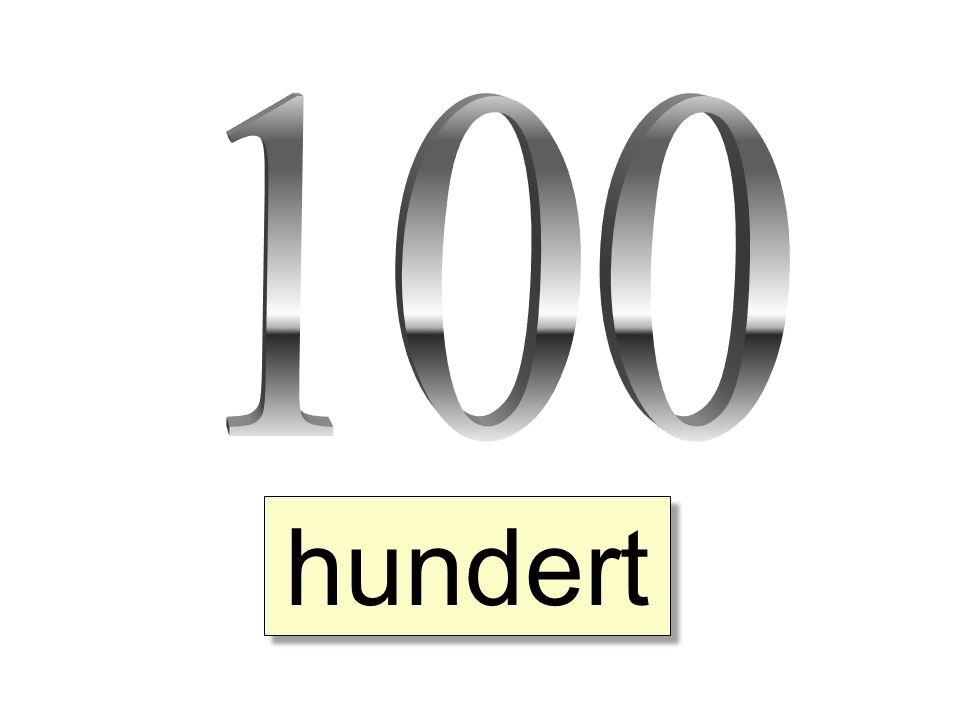 100 hundert