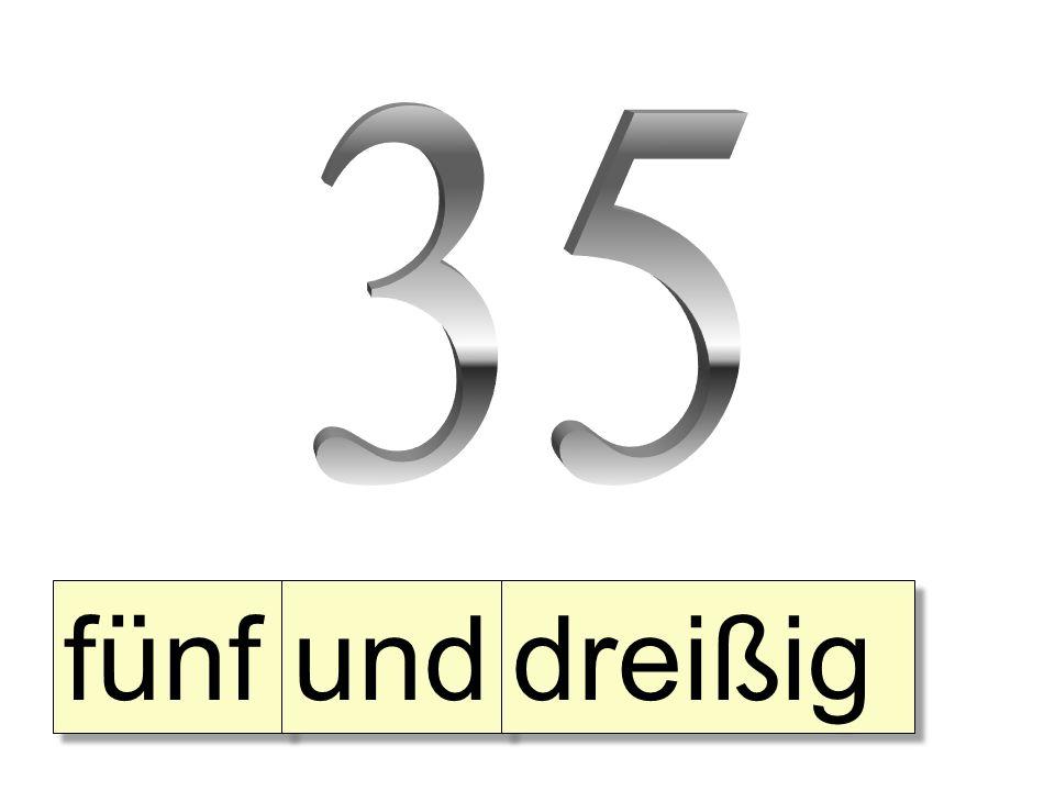 35 fünf und dreißig