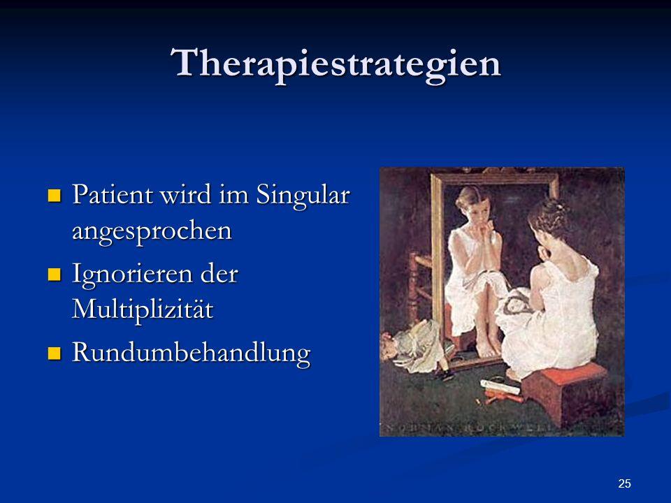 Therapiestrategien Patient wird im Singular angesprochen