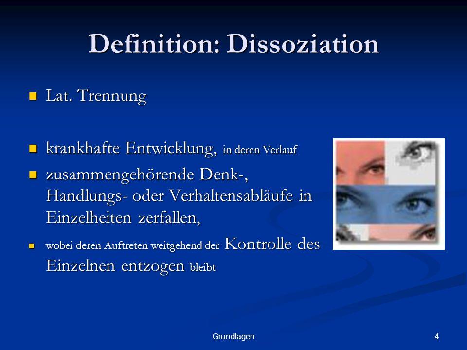 Definition: Dissoziation