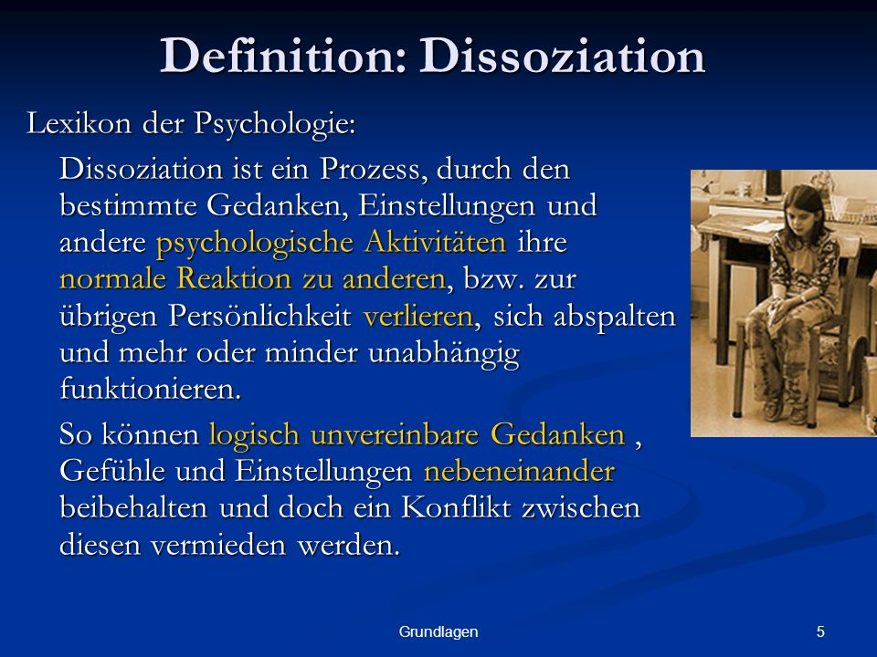Definition: Dissoziation