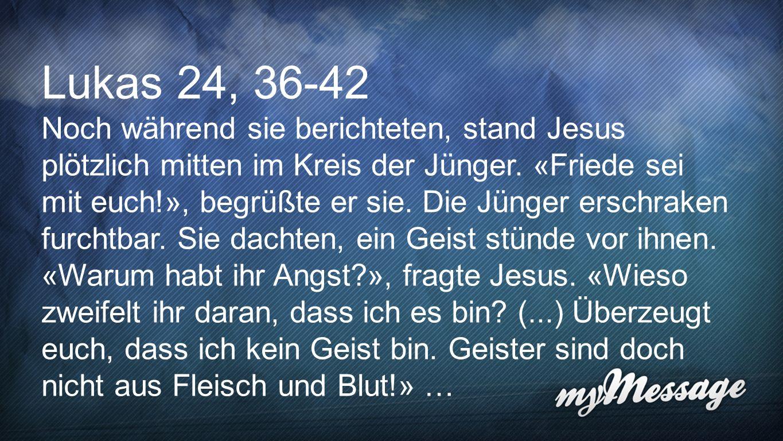 Lukas 24,36-42