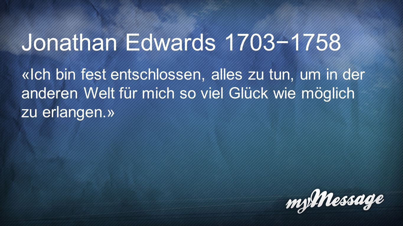 Jonathan Edwards Jonathan Edwards 1703−1758.