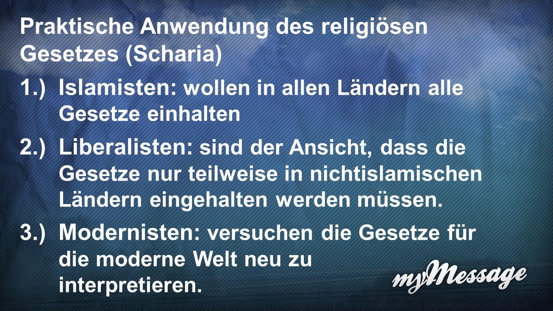 Praktische Anwendung des religiösen Gesetzes (Scharia)