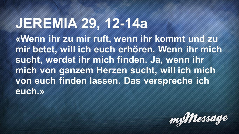 Jeremia 29, 12-14a JEREMIA 29, 12-14a.