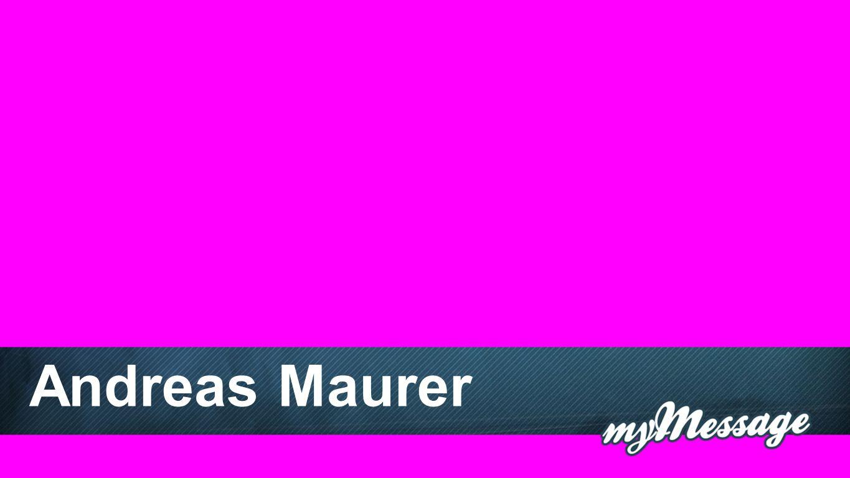 Andreas Maurer Andreas Maurer