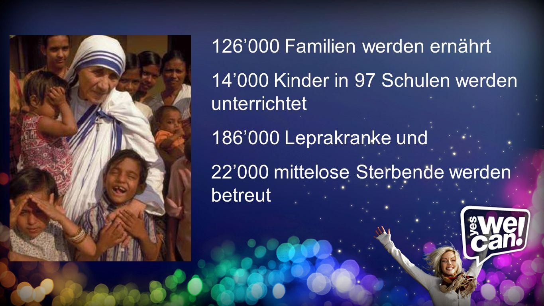 126'000 Familien werden ernährt