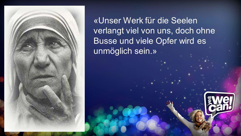 «Unser Werk für die Seelen