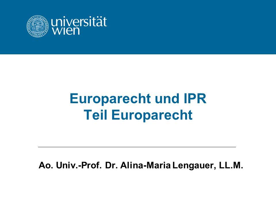 Europarecht und IPR Teil Europarecht