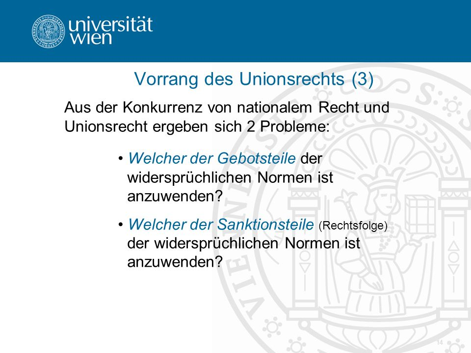 Vorrang des Unionsrechts (3)