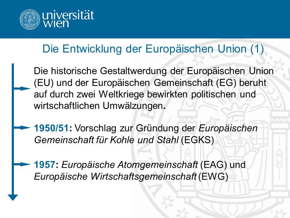 Die Entwicklung der Europäischen Union (1)