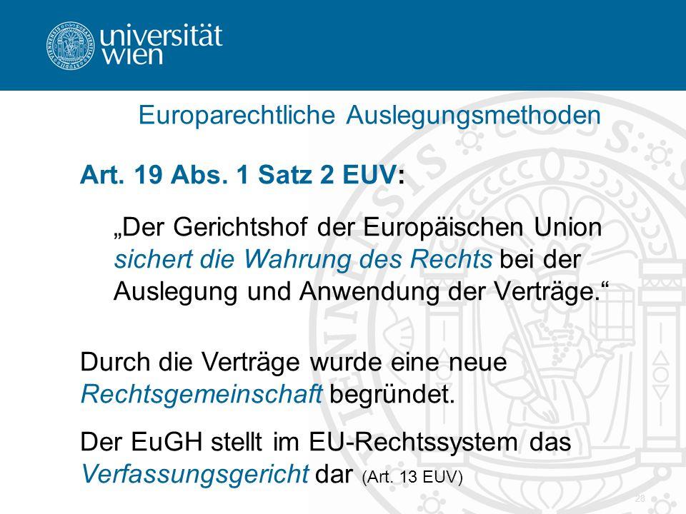 Europarechtliche Auslegungsmethoden
