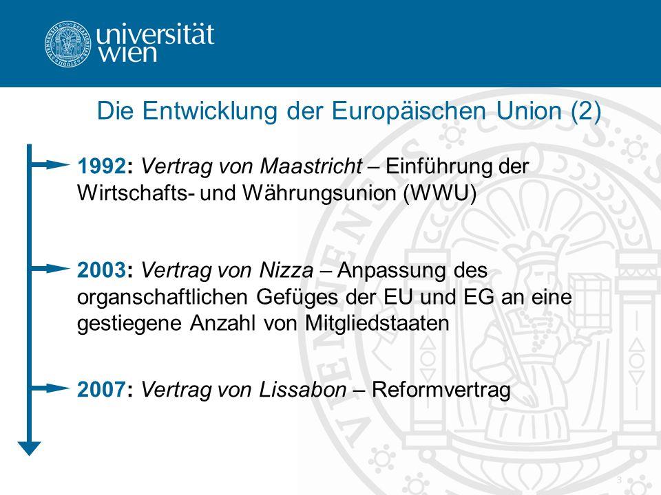 Die Entwicklung der Europäischen Union (2)