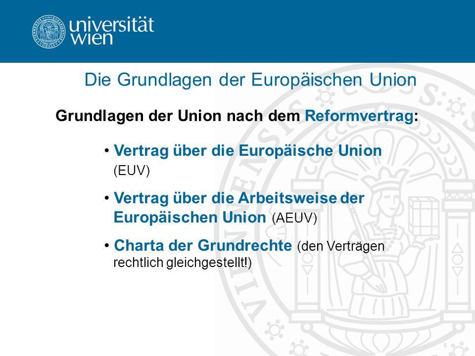 Die Grundlagen der Europäischen Union