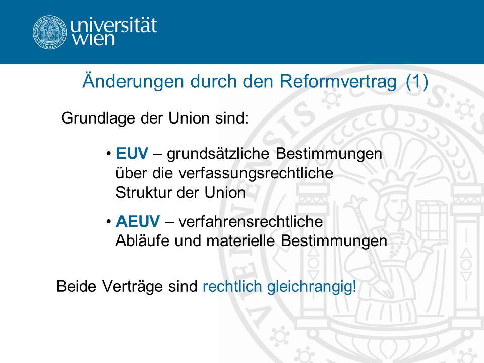 Änderungen durch den Reformvertrag (1)