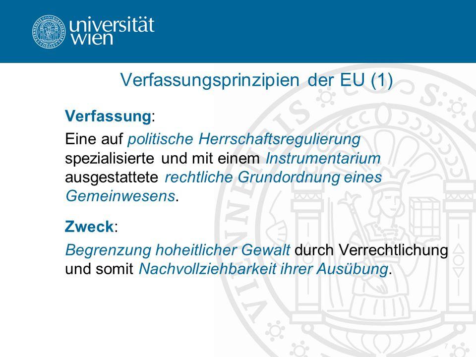 Verfassungsprinzipien der EU (1)