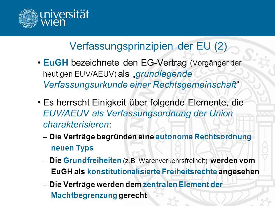 Verfassungsprinzipien der EU (2)