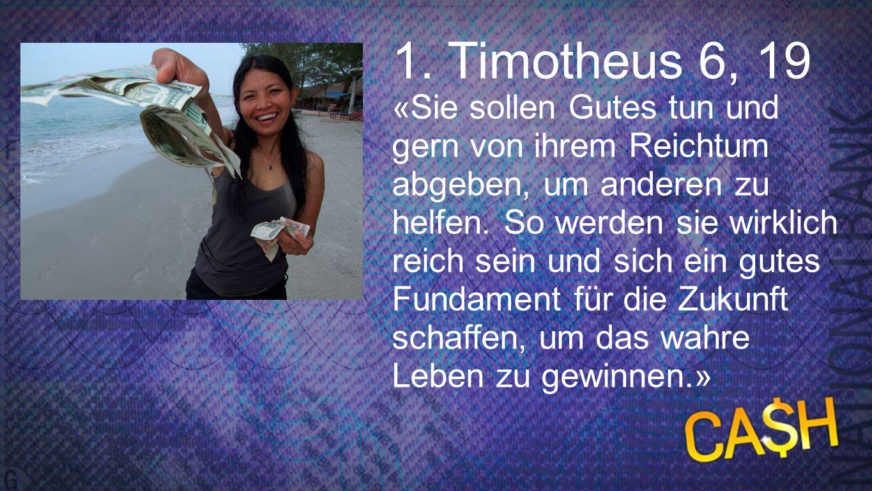 1. Timotheus 6, 19 1. Timotheus 6, 19.